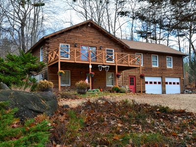 Photo for Beautiful Log Home with Spacious Yard. Close to Beaches and Snowmobile Trails