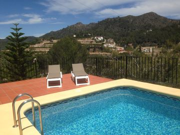 Cottage near Pego for 6 people. with fantastic views and a private 8x4m pool