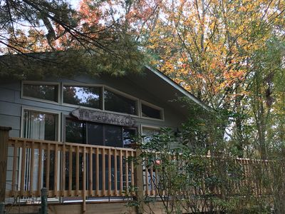 Photo for Bring your whole family to this treetop mountain retreat!