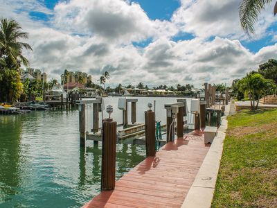 Photo for Paradise Awaits in this Charming 2-bedroom, 2-bathroom, Waterfront Home Close to Restaurants!