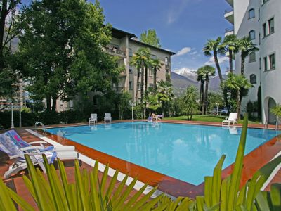 Photo for One bedroom Apartment, sleeps 2 in Locarno with Pool and WiFi