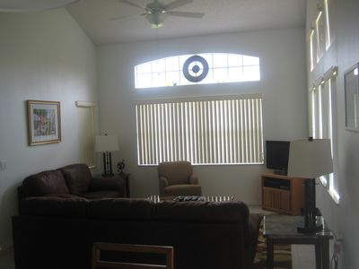 Great room with flat screen tv.