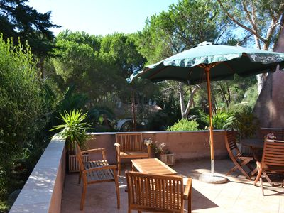 Photo for House / Villa with garden, in beautiful pine forest, 250m from the beach, Sardinia, I