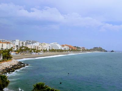 Photo for Spacious first line seafront apartment, large terrace, superb sea views.