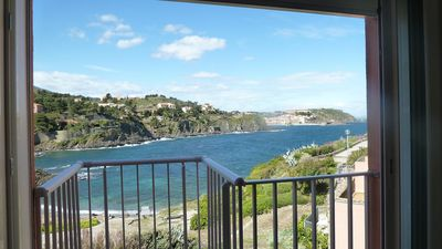 Photo for Luxury Apartment On Small Cove Overlooking Bay To Collioure,Perfect For Sun