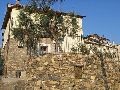 Photo for Ligurian house Terrace and small garden Panoramic view