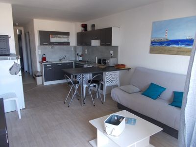 Photo for Apartment T3 with air conditioning Sea completely redone and equipped to nine.