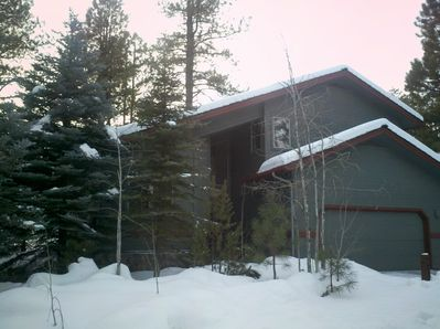 Front of house with snow