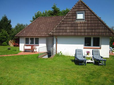 Photo for The private little holiday home in Nebel on Amrum with a private terrace, a huge