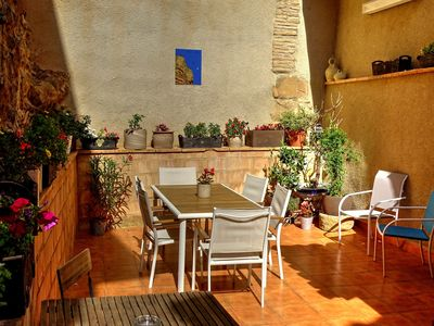 Photo for Village house for 8 people in the Sierra de Guara 10 minutes from Alquézar