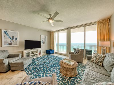 Photo for Beachfront resort condo w/ shared indoor/outdoor pool, gym & hot tub