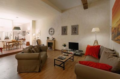 My Florence Home: Living room, Sat TV, W-Fi, Wii,....