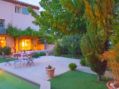 Photo for Characteristic country house with private pool and views of the Mont Ventoux