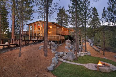 This completely custom home has lovely views and it is loaded with amenities.