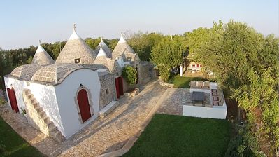 Photo for TRULLO DELLA ROSA published 2 books, 10x5mt. SALT WATER POOL, 2 hectares of olive trees