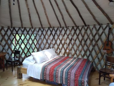 Photo for Wild Acres Yurt on 36 acres bordering 800 acres of perserve with a 300 acre pond