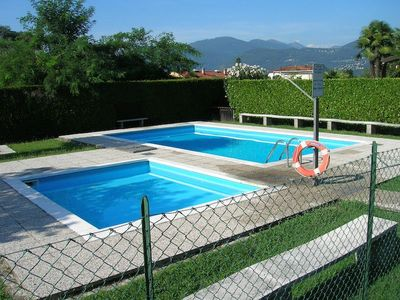 Photo for Nicole 1 apartment located in a residential complex with swimming pool in Germignaga