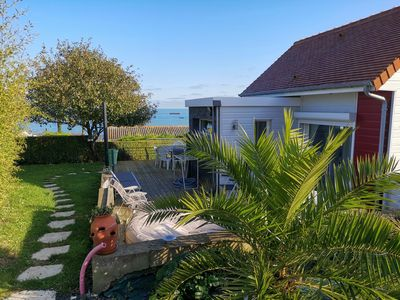 Photo for pretty little CHALET overlooking the sea beach 250 m