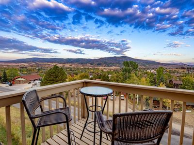 Photo for Dog Friendly, Private Entrance, Amazing Views, Private Hot Tub, Free Bus, Garage, Wood Fireplace
