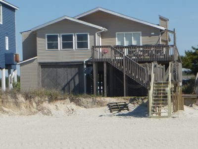 Photo for E2 432, Ocean Front vintage home, features porch, rockers and picnic table for relaxation