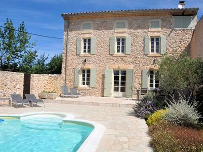 Photo for French country house with private pool in the Minervois vineyards