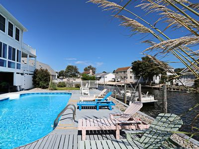 Photo for K355H: Private pool! 5BR canalfront home w/ boat dock and more!