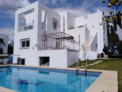 Photo for Centre of Town Metres From The Beach Private Pool & Jacuzzi