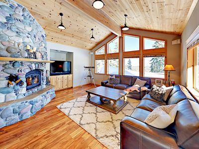 Photo for Big Tahoe Donner Home w/ Mountain Views, Near Skiing & Lake