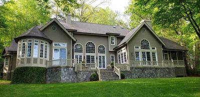 Photo for Lakefront Estate! Lake Toxaway Golf Club/Spa/Tennis/Boating/Hiking/Fishing!