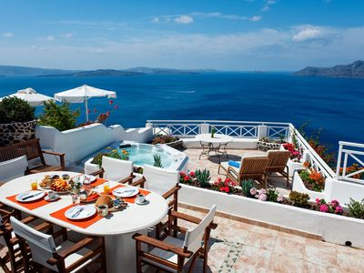 Photo for Oia Villa Clio-Breathtaking views of the caldera and aegean sea!