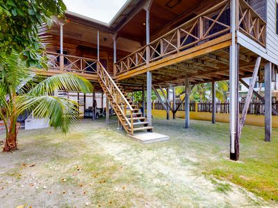Photo for Breezy studio suite with huge covered deck, free WiFi, & great location