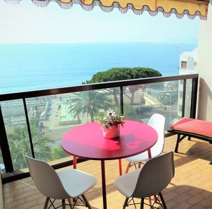 Photo for EXCEPTIONAL-TERRACE PANORAMIC SEA VIEW-NEUF, BEACH FACE, STANDING, WIFI, CLIM