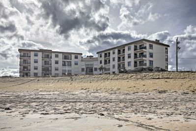 Ormond Beach is right outside the condo's door!