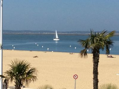 Photo for Arcachon.  Exceptional first line luxury apartment feet in water
