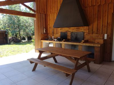 Photo for Wooden house in calm and relaxing environment