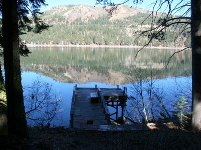 Photo for 3 bedroom,2 bath,sleeps 6(7max).Donner Lakefront with private dock: DLR#071
