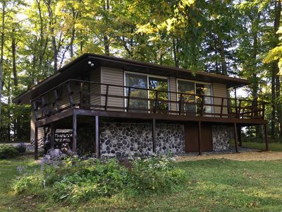 Photo for Eagle River, WI Lakefront Cabin ~ Fishing Boat Included, Free WIFI, Kid Friendly