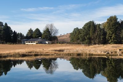 View of the Main House from our lager dam