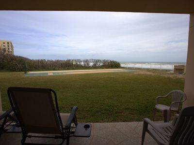 Photo for Ocean Front Complex -Relaxing! Ocean View from living room and master bedroom!