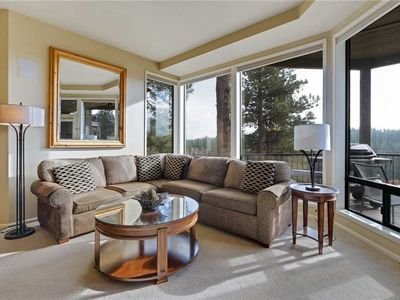 Photo for Private, one bedroom condo in Bend with gas fireplace and access to fitness center.
