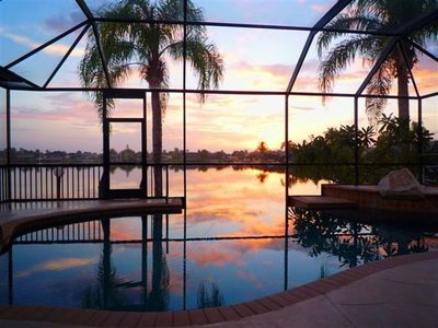 Photo for Lakefront Home Infinity Pool, PowerBoat, Private Dock,  Sleeps 8