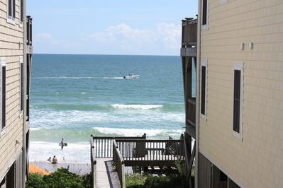 This is your view directly in front of deck and from your living room.