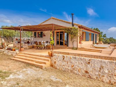 Photo for Majorcan Country Ecological Estate with Wi-Fi, Patio, Large Garden and Mountain panoramic View; Car Parking and Bicycles Available