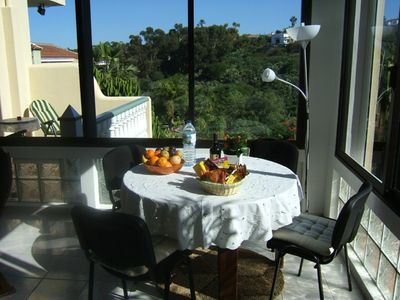Photo for cozy spacious apartment on a flower finca with 2 terraces and pool,