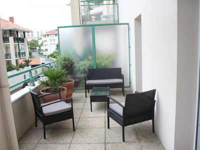 Photo for 2 rooms with large terrace center of Biarritz