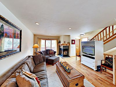 Photo for 3-Story Townhome w/ 2 Balconies, Hot Tub, Mountain Views & Heated Garage
