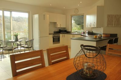 Light, spacious  and stylish open plan interior.