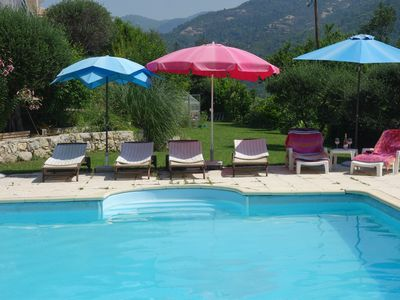 Photo for Gite of strawberry trees, House with swimming pool quiet 20 kms from NICE