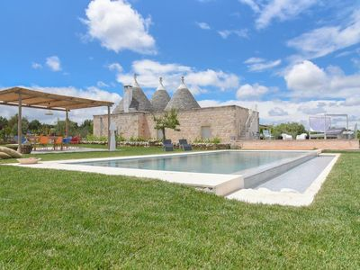 Photo for Fantastic Trulli Home with Wi-Fi, Air Conditioning, Infinity Pool and Garden; Parking Available