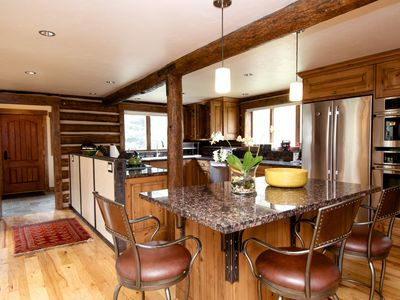 Elegant log home offers the best of contemporary and classic